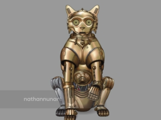Cat3P0 - from my cat parody of Star Wars' famous droids