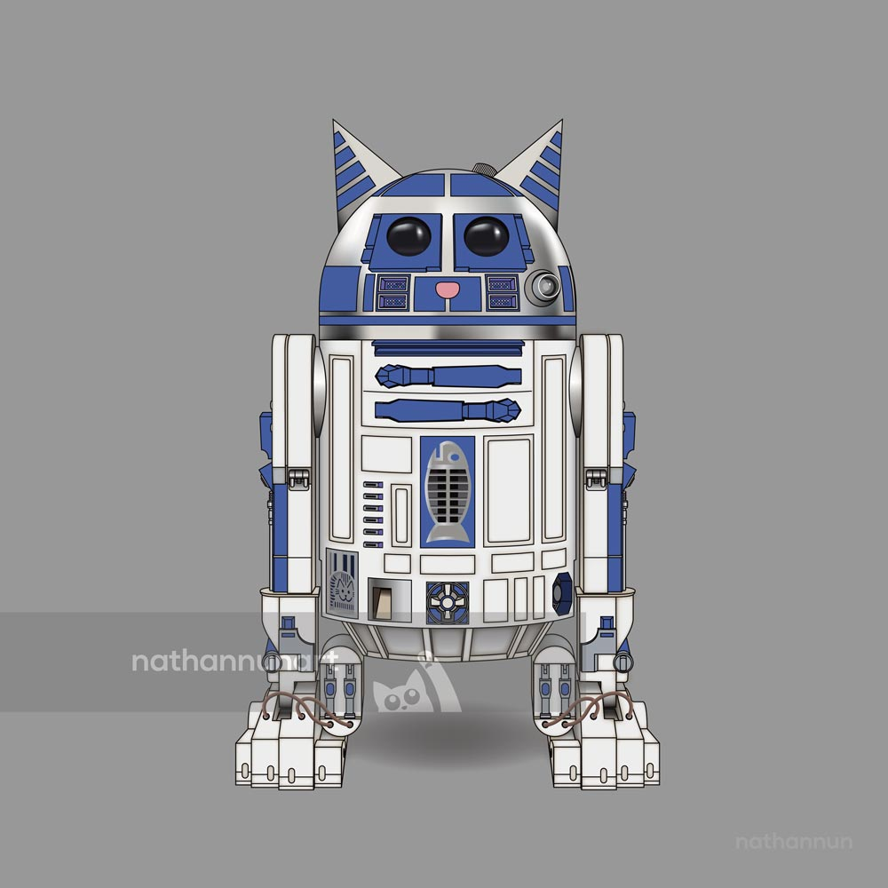 Purr2D2 - from my cat parody of Star Wars' famous droids