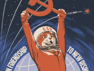 Cat Star Union - part of my series of pastiche Soviet cat posters