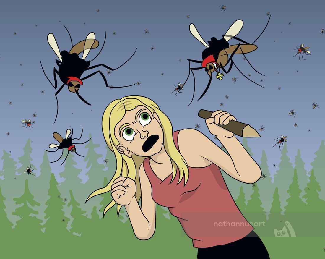 fending off vampire mosquitos