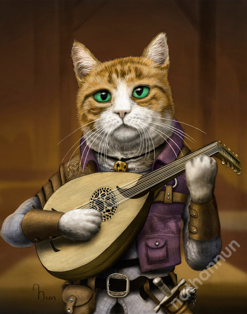 Bard Cat - part of my adventure cat series based on classic fantasy and d&d classes