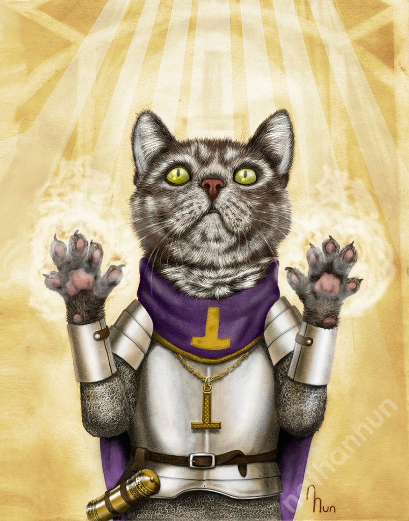 Cleric Cat - part of my adventure cat series based on classic fantasy and d&d classes