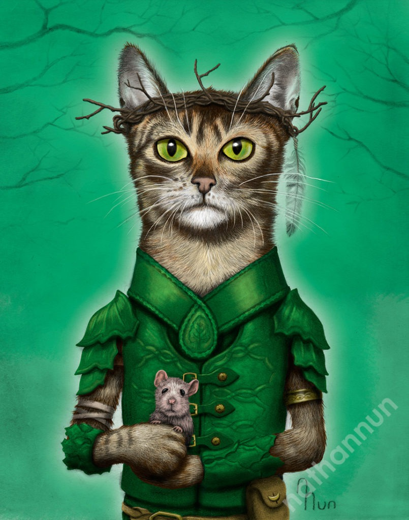 Druid Cat - part of my adventure cat series based on classic fantasy and d&d classes