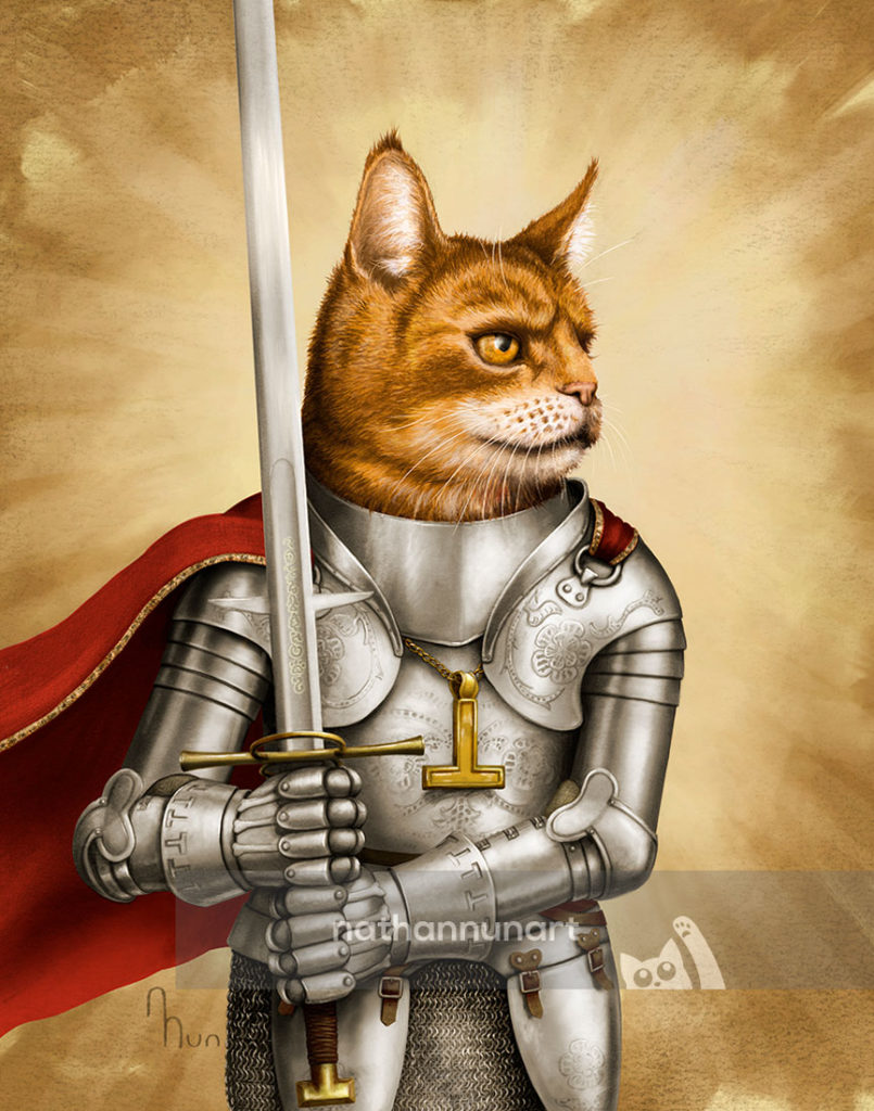 Paladin Cat - part of my adventure cat series based on classic fantasy and d&d classes
