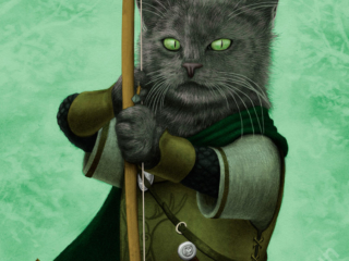 Ranger Cat - part of my adventure cat series based on classic fantasy and d&d classes