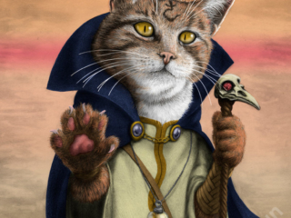 Sorcerer Cat - part of my adventure cat series based on classic fantasy and d&d classes