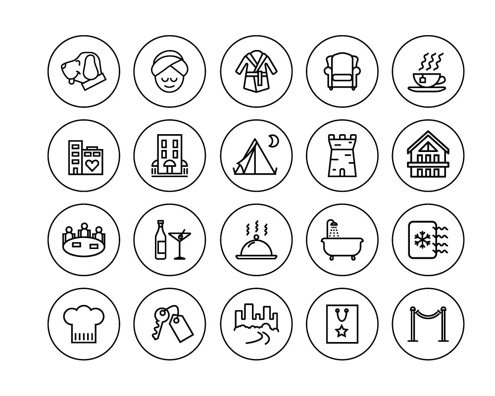 selection of travel icons
