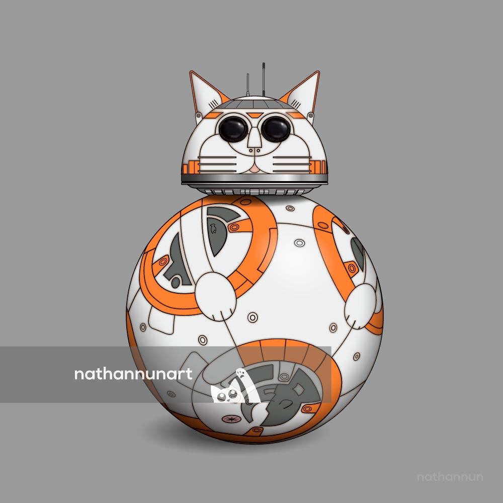 BB-Cat - from my cat parody of Star Wars' famous droids