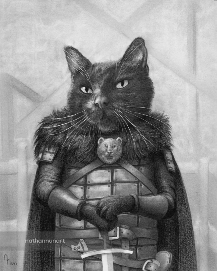 Cat drawn as Joer from Game of Thrones