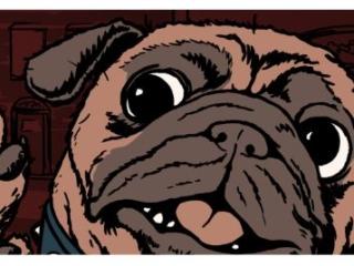 A comic pug says rutroh