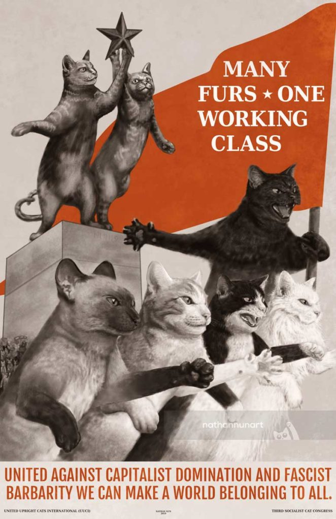 Many Furs One Working Class sovcat poster